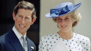 Prince Charles and Princess Diana in Australia in 1985.