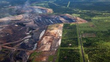 Coal mining development in the Bowen Basin in Queensland.