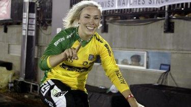 Smiling again: Caroline Buchanan won her first race since a life-changing crash.