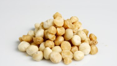 Macadamia nuts and sugar - a delicious combination.