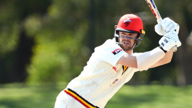 Travis Head made a century for South Australia in the Sheffield Shield.