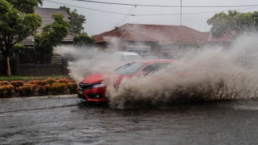 Motorists are warned not to drive through flood waters during wild weather.