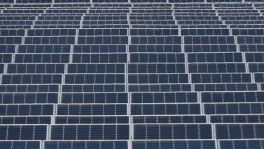 The Kerang solar farm in Victoria. As many as 18 more solar farms are in the pipeline although changes in the assessment process is likely to slow down approvals, one company executive said.