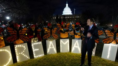 Democrat Senator Richard Blumenthal speaks during a rally in support of Deferred Action for Childhood Arrivals (DACA), or Dreamers, in Washington, last year.