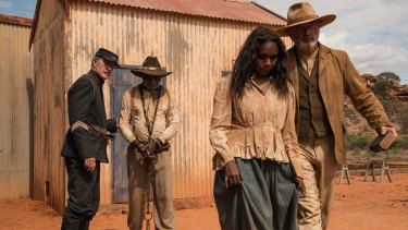 Acclaimed ... (from left) Bryan Brown, Hamilton Morris, Natassia Gorey-Furber and Sam Neill in Sweet Country.