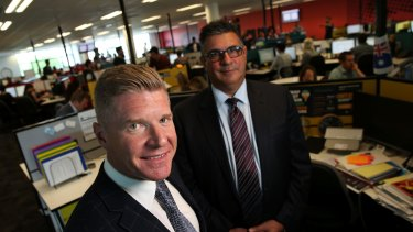 Acquire Learning former managing director John Wall and former advisory board member Andrew Demetriou in November 2014.