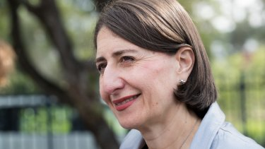 On top with the punters: Gladys Berejiklian.