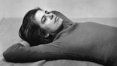 Susan Sontag pictured in 1975 by Peter Hujar.