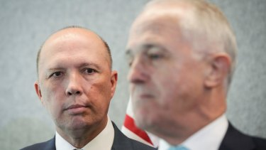 Former prime minister Malcolm Turnbull took aim at Home Affairs Minister Peter Dutton.
