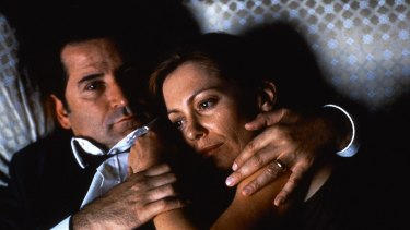 Kerry Armstrong with Anthony LaPaglia as troubled couple Leon and Sonja in Lantana.