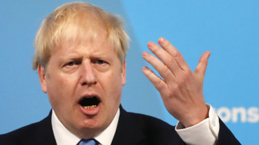 Boris Johnson speaks after being announced as the new leader of the Conservative Party and Britain's Prime Minister.