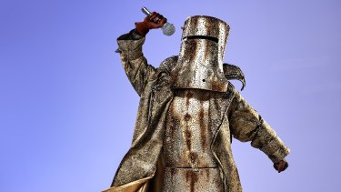 One of the elaborate costumes from this year's season of Masked Singer Australia.
