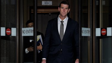 Ben Roberts-Smith leaves the Federal Court in Sydney last month.