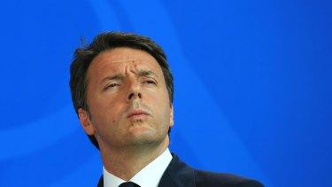 Former Italian Prime Minister Matteo Renzi.
