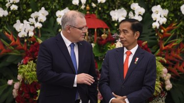 Prime Minister Scott Morrison and Indonesian President Joko Widodo.