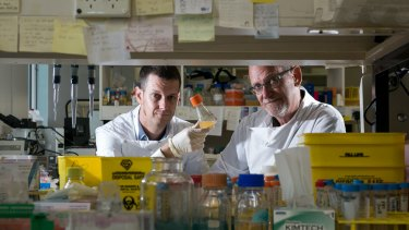 Research Fellow Keith Chappell and head of UQ professor Paul Young are developing a rapid response vaccine for emerging infections.