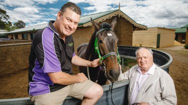Queanbeyan trainer Joe Cleary will look to follow in the footsteps of his father Frank (right) at the Magic Millions.