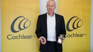 Cochlear chief executive Dig Howitt. The company has slashed its guidance as the coronavirus dents demand.