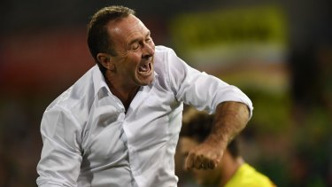Ricky Stuart celebrating on the sideline last season.