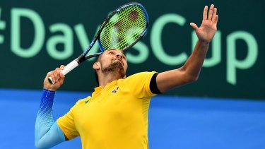Resting up: Nick Kyrgios has chosen to skip what is effectively a meaningless tie.