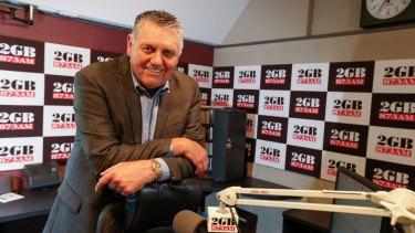 Broadcaster Ray Hadley at 2GB's Sydney studios.