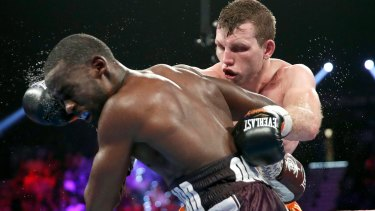 Chalk and cheese: Jeff Horn was stopped in his last fight, against Terence Crawford, but Jeff Fenech says the American is an entirely different proposition to Anthony Mundine.