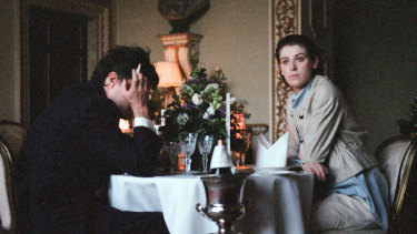 Honor Swinton Byrne, with Tom Burke, in The Souvenir.