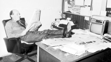 Vic Carroll in his office at The Australian Financial Review at the old Fairfax building in Jones Street, Ultimo.