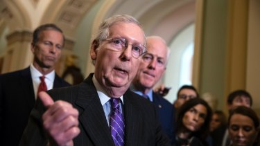 Senate Majority Leader Mitch McConnell was on the phone with Trump several times during the day, trying to convince the President to agree to the deal.