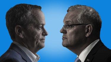 Face-off: Bill Shorten and Scott Morrison.