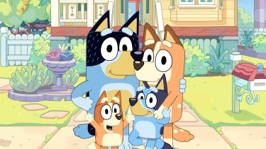 The characters from the animated hit Bluey.