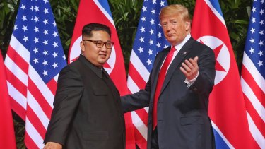 Trump appeared like an older, fatherly-type directing a younger, less experienced Kim Jong-un.