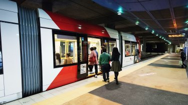 The future Sydney in the making ... light rail is a key part of the rapid-transit city.