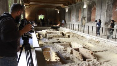 Excavation site inside the Sant'Orsola monastery in Florence, Italy.