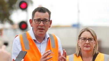 Daniel Andrews and Jacinta Allen announced the tram line in April 2018.