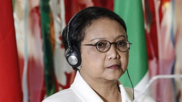 Indonesian Foreign Minister Retno Marsudi was concerned about any change in Australia's policy on its embassy in Israel.