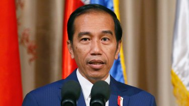 """On a visit to smooth out the two nation's """"rollercoaster"""" relationship: Indonesian President Joko Widodo."""