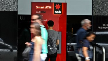 As more than half of taxpayers say they're unlikely to spend all their tax refund, the NAB said there were growing risks to the economy.