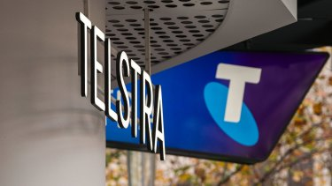 Telstra shares fell by 5.5 per cent on Tuesday to close at $3.07.