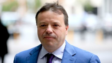 Millionaire Brexit campaigner Arron Banks in London.