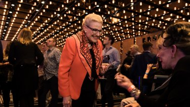 Former Liberal MP Bronwyn Bishop at the Liberal Party's post election night celebration.