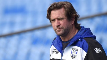 Legal battle: The Bulldogs have a difficult process to negotiate with Des Hasler.