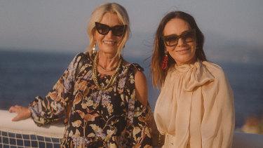 Simone (left) and Nicky Zimmermann in Capri.
