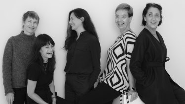 Nine former Dolly staffers have reunited to launch a website for over-45s called Tonic. From left: Patricia Sheahan, Aileen Marr, Marina Go, Ute Junker, Megan Morton.