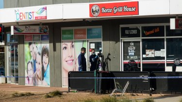 Korzo Grill House, Caroline Springs, where the stabbing occurred.