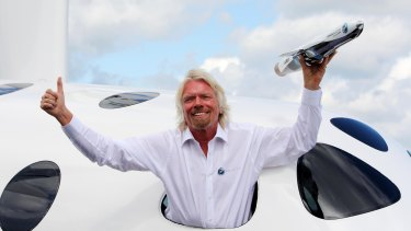 Branson's Virgin Galactic stake is worth around $US1 billion.