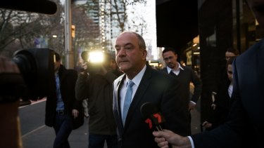 Daryl Maguire, the former member for Wagga Wagga, after giving evidence at ICAC in July.