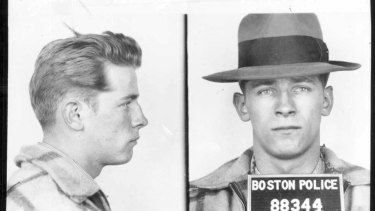 A 1953 Boston police booking file photo shows James 'Whitey' Bulger after an arrest.