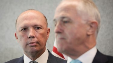 Peter Dutton, pictured with Malcolm Turnbull.