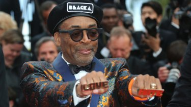 Spike Lee at the premiere of his film in Cannes in May.